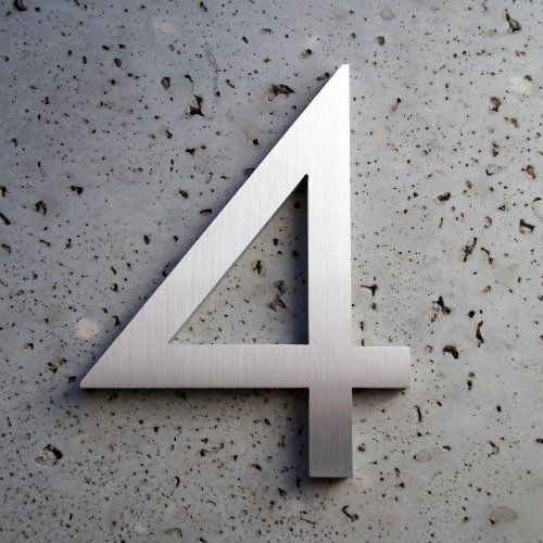Modern House Number Aluminum Modern House Number House Numbers Metal House Numbers