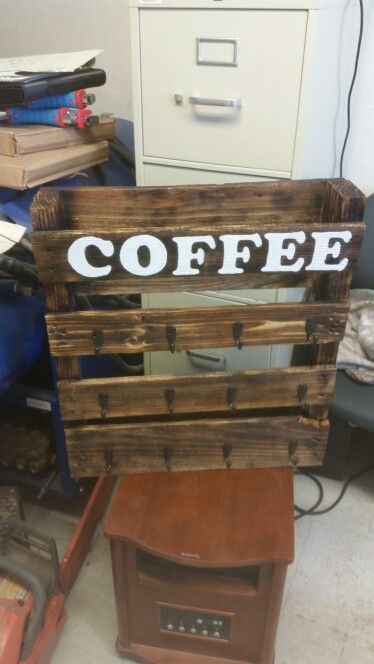 Pallet Coffee Cup Holder Holders Cups My Pinterest Pallets