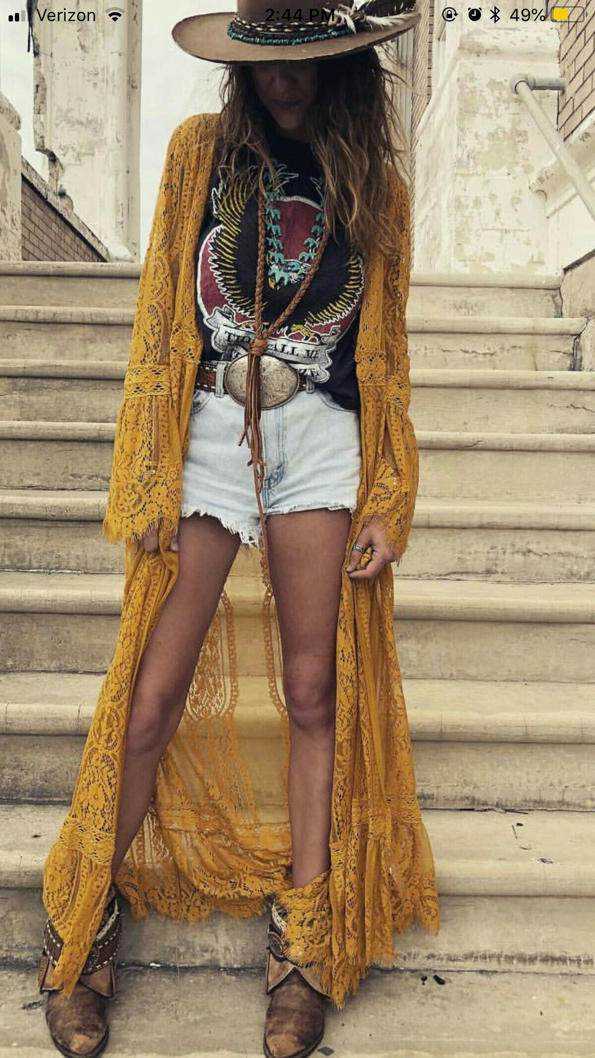 Hippy Boho chic complements new photo