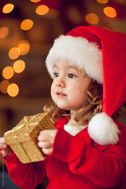 Beautiful 3 year old little girl waiting for Christmas...by Dejan Ristovski