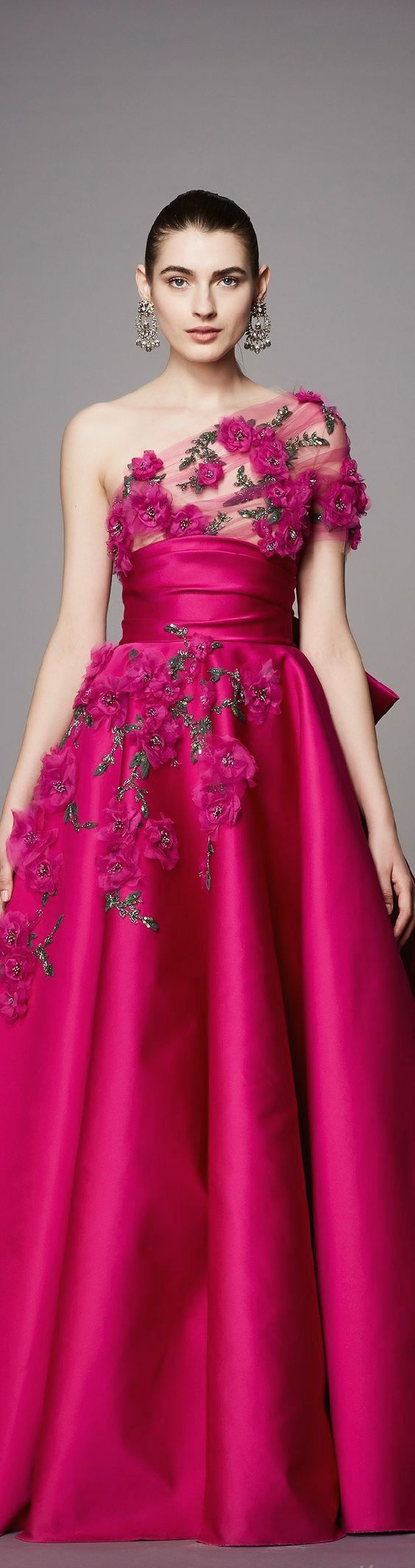 Chic and elegant cocktail dresses for weddings latest styles raspberry pink and 3 d embroidered roses on this stunning evening gown from the pre elegant cocktail dresscocktail ombrellifo Image collections