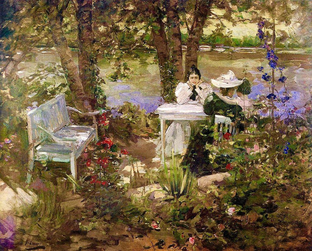 Sir John Lavery - A garden in France | France