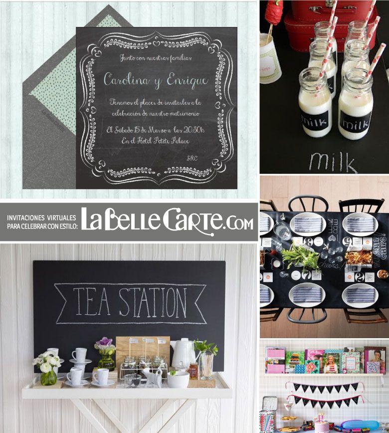 Invitaciones de boda invitaciones para bodas ideas para - Pizarras para decorar ...