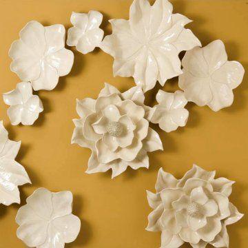 Global Views Magnolia Bowl Wall Art - Wall Sculptures and Panels at ...
