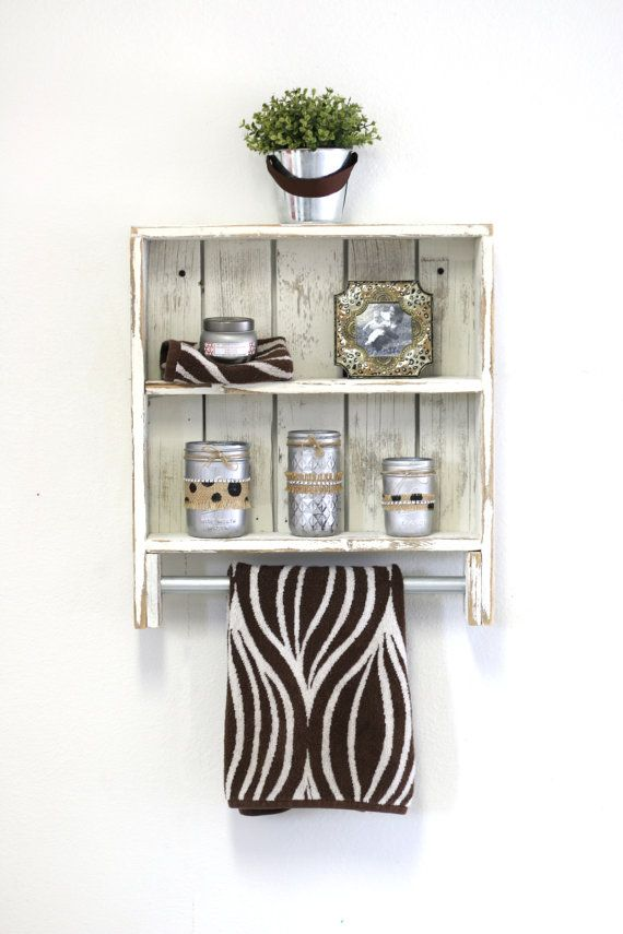 Rustic Double Towel Rack6 Colors by DougAndCristyDesigns on Etsy