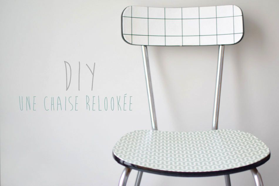Relookez une vieille chaise en Formica avec notre tutoriel - DIY