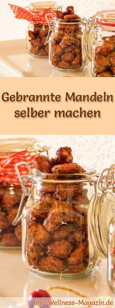 Gebrannte Mandeln selber machen - Rezept - Wie macht man Gebrannte Mandeln? #nikolausgeschenkeselbermachen