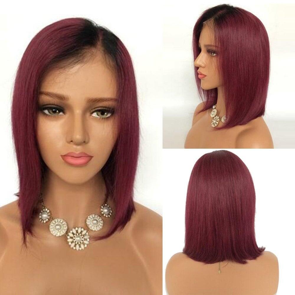 Glamorous Remi Human Hair Bob Wigs 130 Density Brazilian Peruvian Malaysian Indian Hair Lace Front And Full Lace Short Wigs Hair Styles Stylish Hair Short Hair Styles