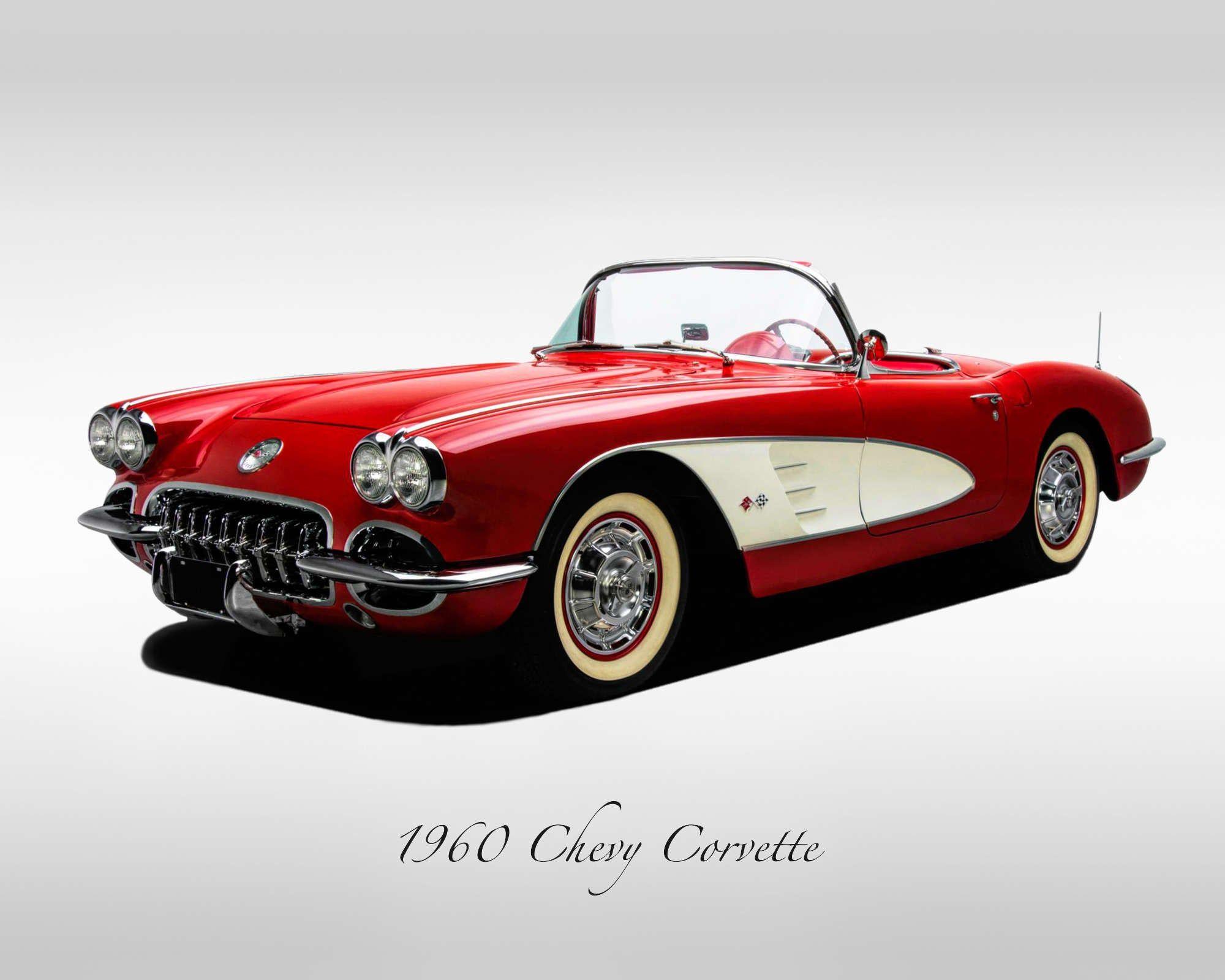 Classic Cars – 1960 Chevrolet Corvette – Print