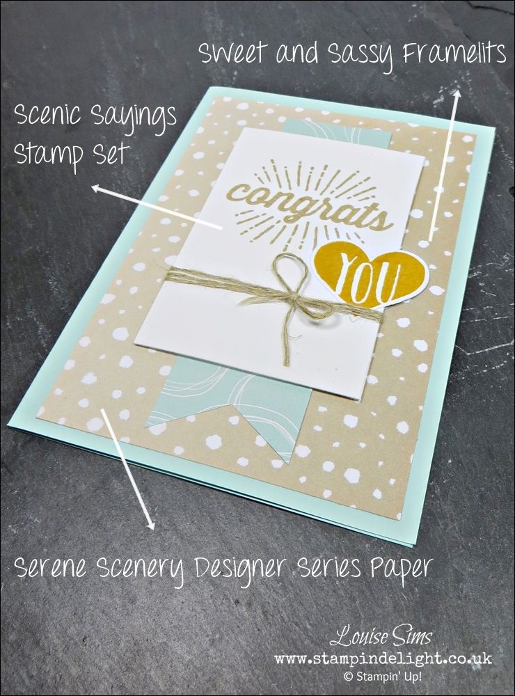 creative inspiration with scenic sayings  stampin up
