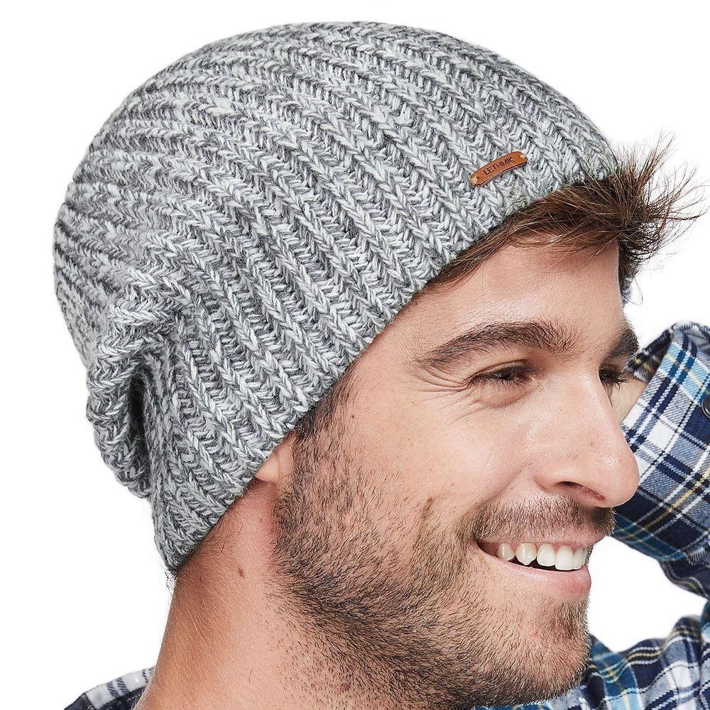 c98e45669c824 Winter Skull Cap Warm Knit Fleece Ski Slouchy Hat for Men   Women Mix Light  Grey  LETHMIK  Ski