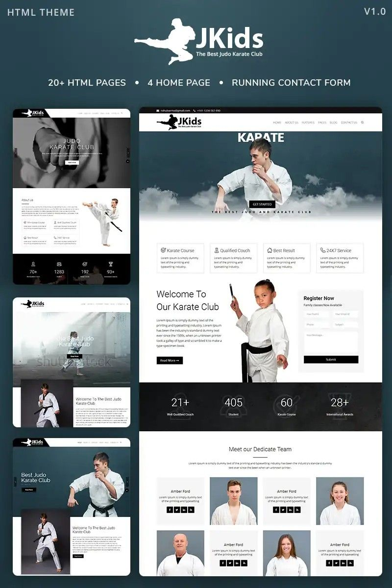 Jkids Judo Karate And Martial Art Html Website Template