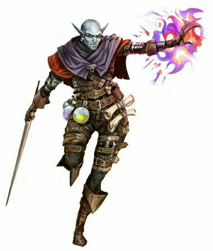 Deark Elf Magus - Pathfinder PFRPG DND D&D d20 fantasy