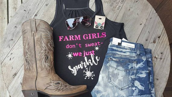 Hey, I found this really awesome Etsy listing at https://www.etsy.com/listing/508825038/farm-girls-sparkle-tank