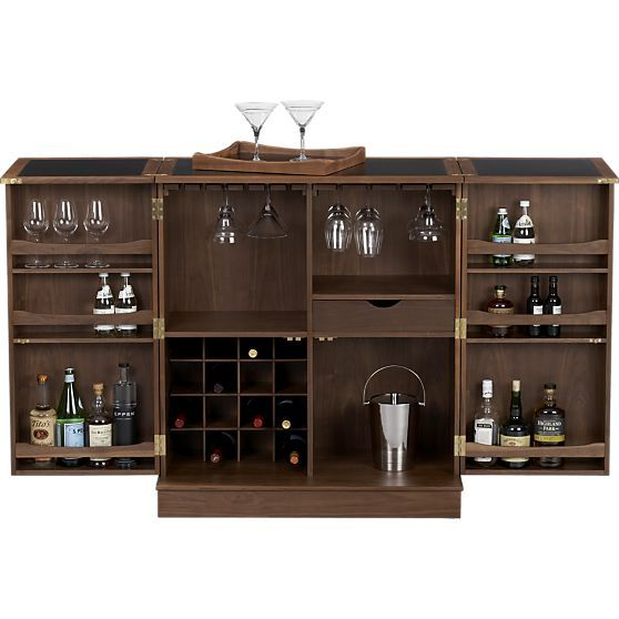 build your own home bar: crosley furniture lafayette expandable