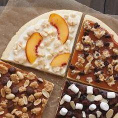 Süße Pizza mit Cookie Dough