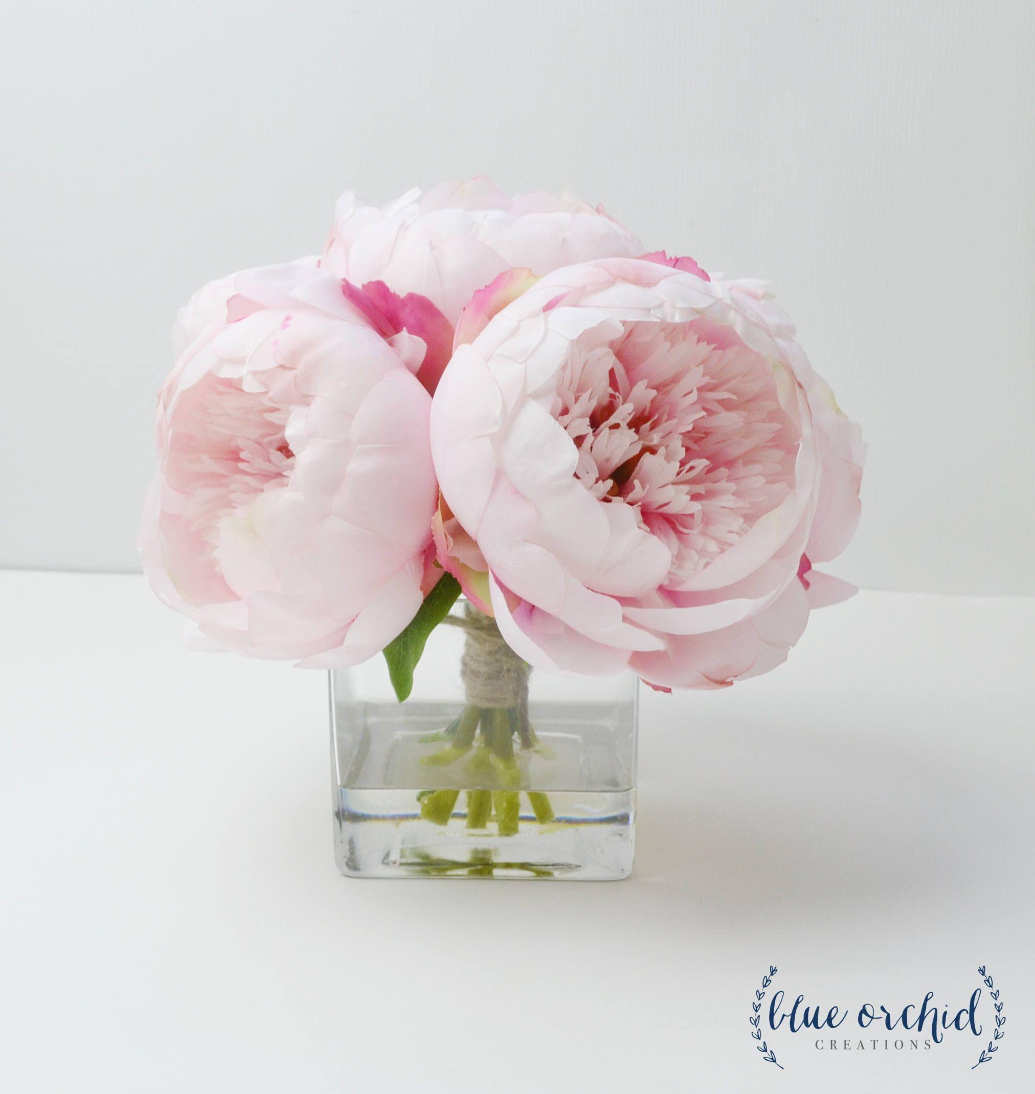 Peony Arrangement, Silk Peonies, Flower Arrangement, Silk Flower ...