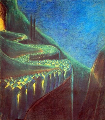 Funeral Symphony (VI) - Mikalojus Ciurlionis
