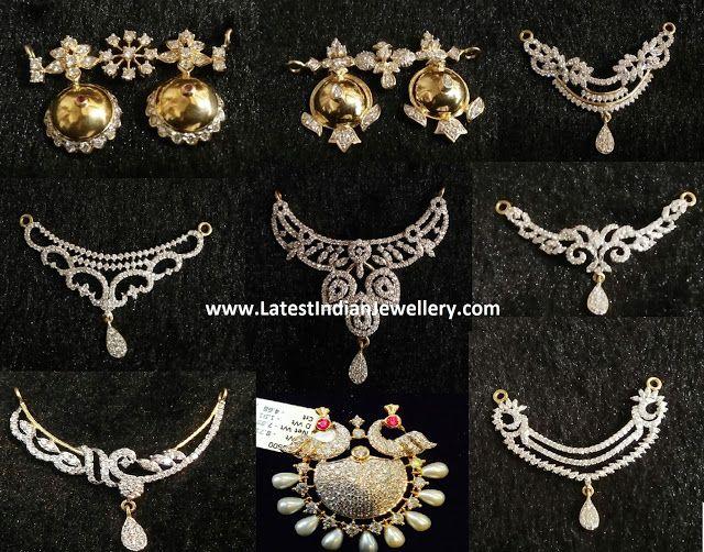 Diamond mangalsutra pendants collection colgantes diamond mangalsutra pendants aloadofball Images