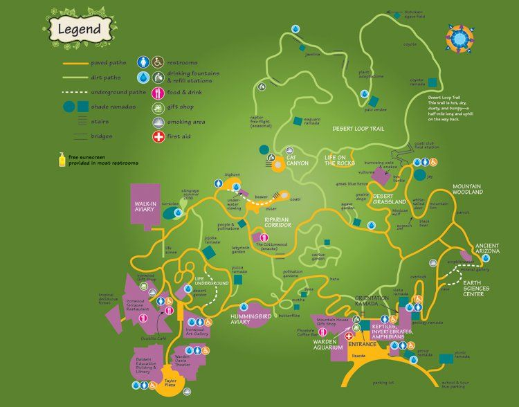 Map of the grounds (With images) Sonora desert, Sonoran