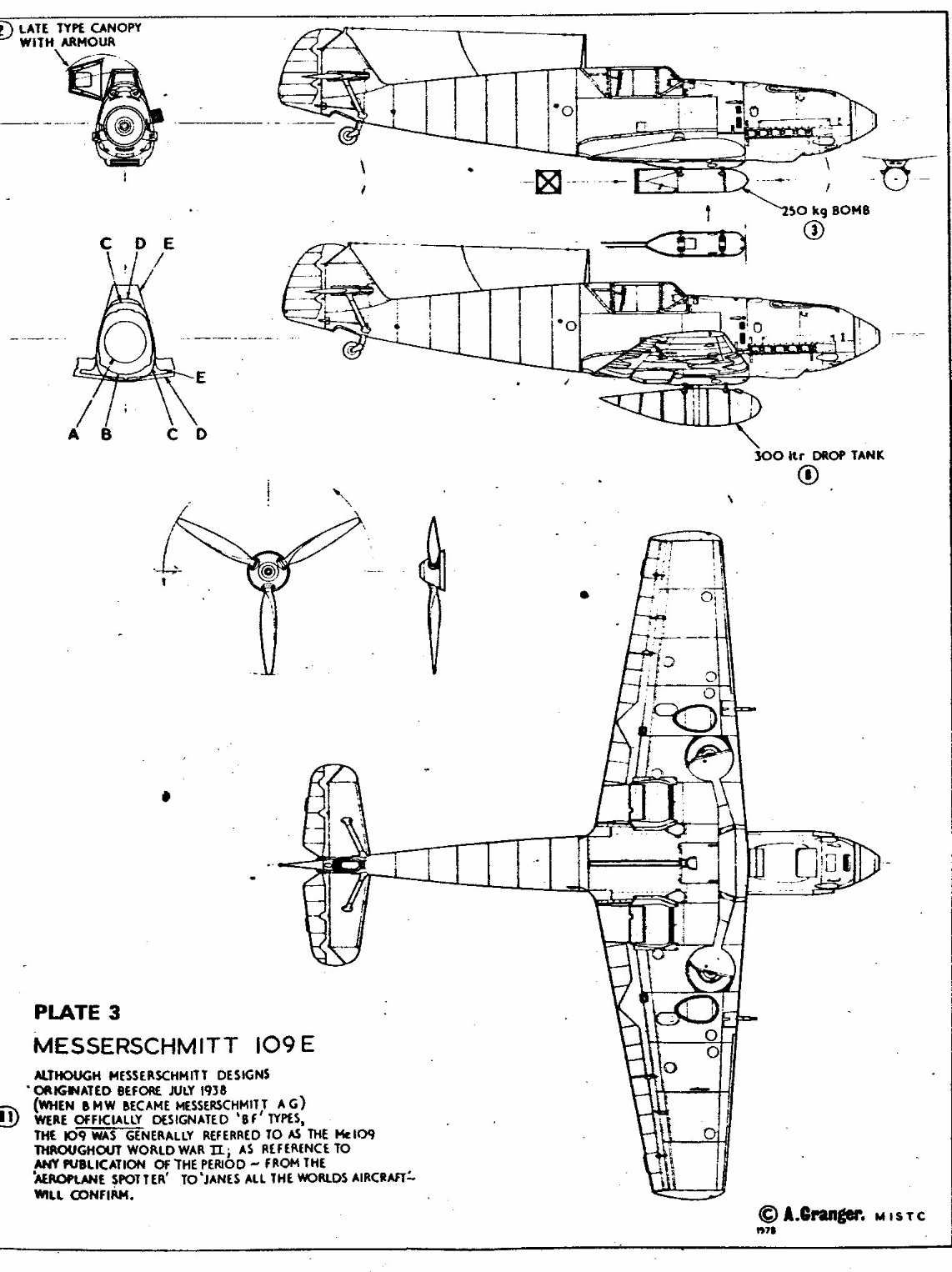 Airplane Blueprint Aviao