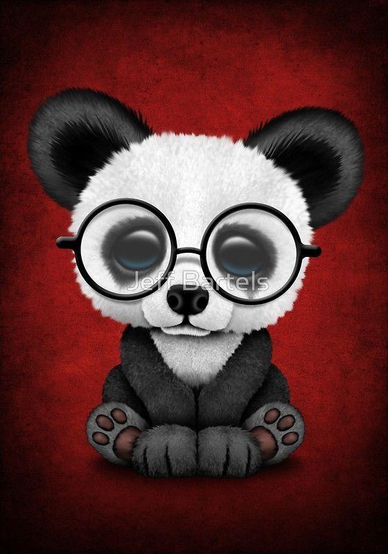 Orso di panda divertente che appende sul modello del cartone corpo