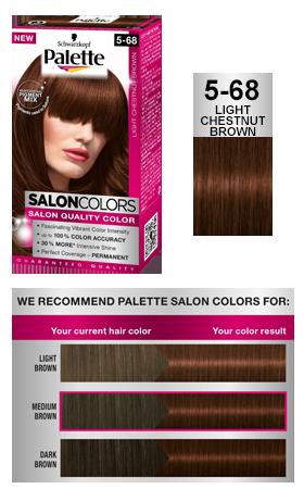 Palette Salon Colors 5 68 Light Chestnut Brown