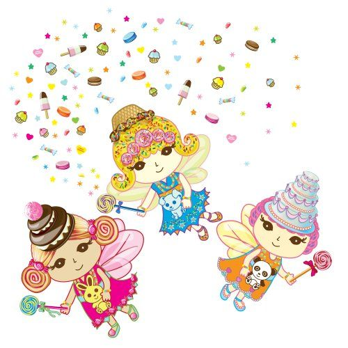 WallCandy Arts Sweet Dreams Fairies Wall Decal Kit ** Check out the ...