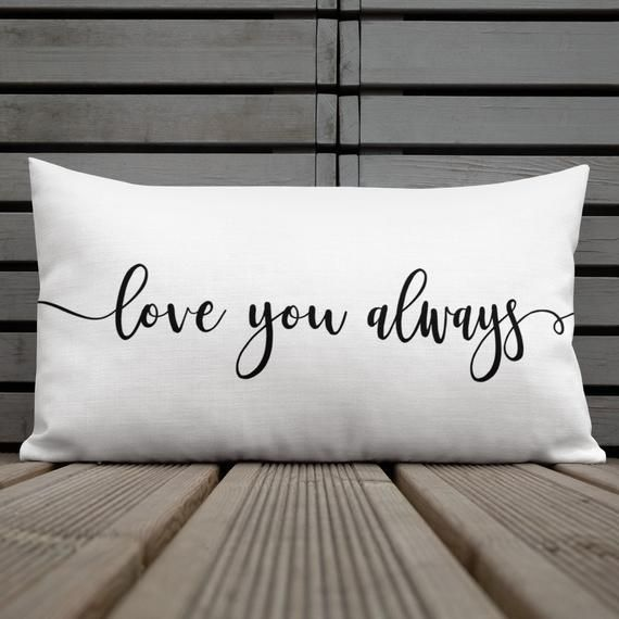 EtsyMktgTool love you always lumbar pillow Handmade in