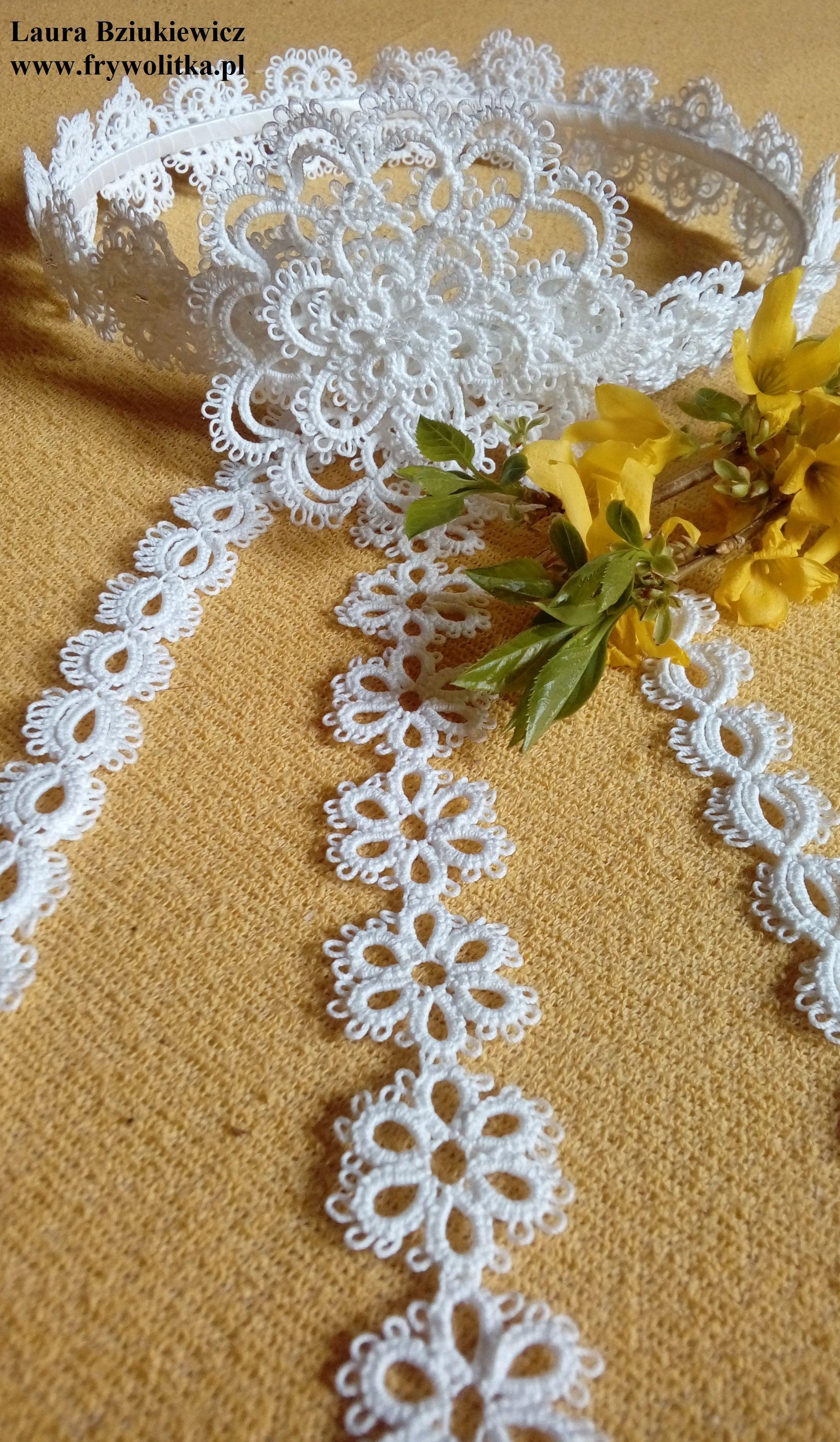 Frywolitkowy Wianuszek Tatting Patterns Crochet Jewelry Crochet Flowers