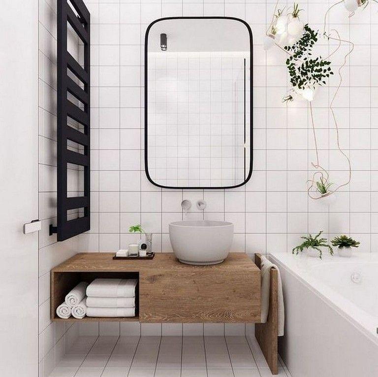 45 Stuning Scandinavian Bathroom Ideas You Will Totally Love Scandinavian Bathroom Minimalist Bathroom Contemporary Bathroom Designs