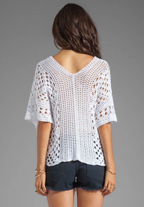 Blusa Branca de Crochet | Crochet Patterns to try | Pinterest ...