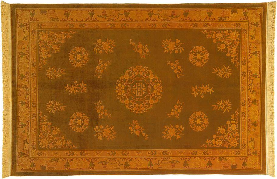 Gelb (-er) Teppich by KISKAN PROCESS HAMBURG, Orientteppich - wohnzimmer rot orange
