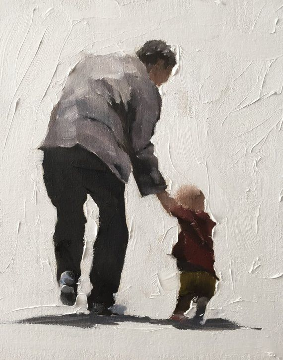 Grandfather Painting Grandfather Grandson Art Grandfather PRINT Grandfather and Grandson - Art Print - from original painting by J Coates