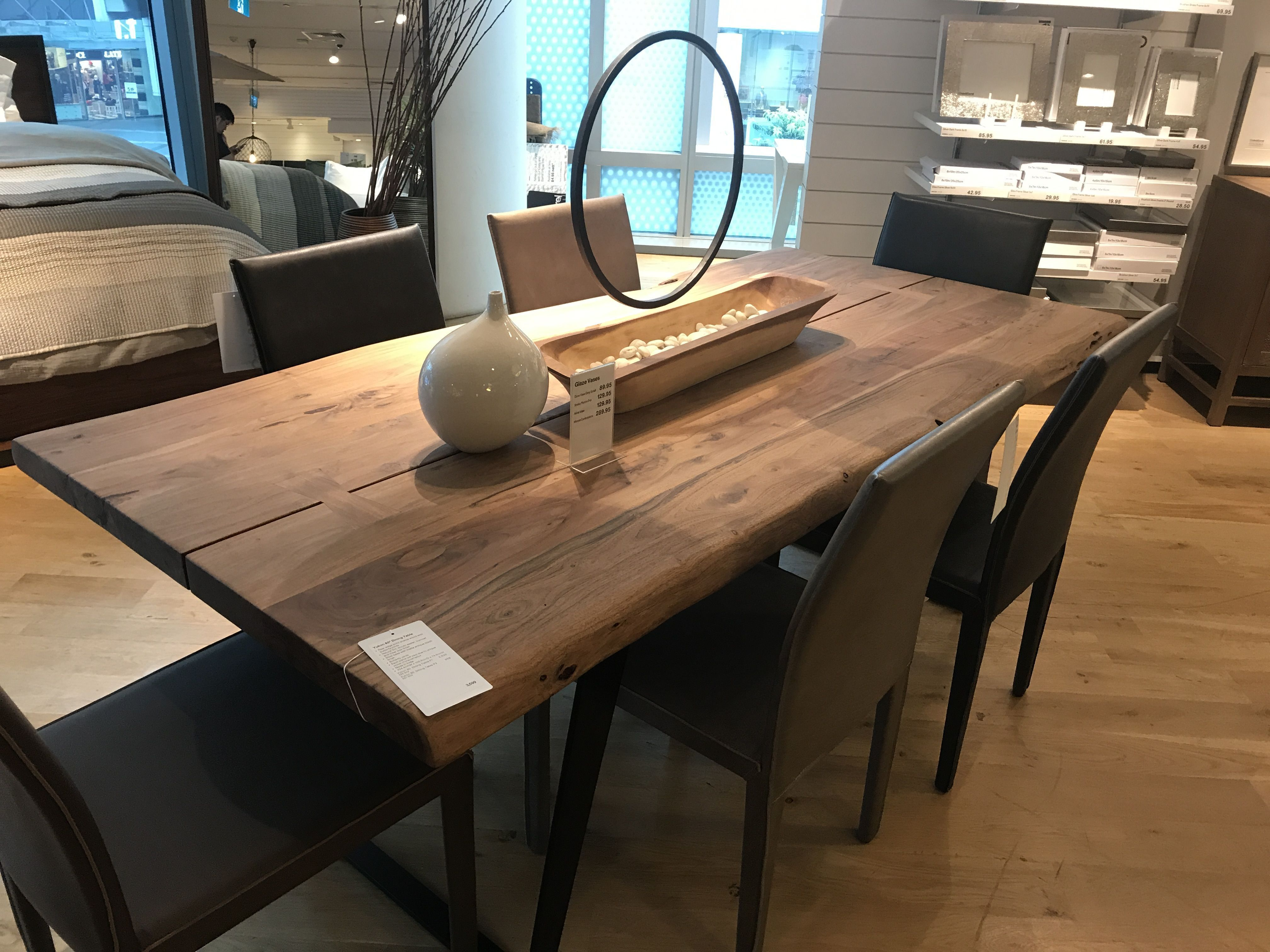 yukon dining table from crate barrel