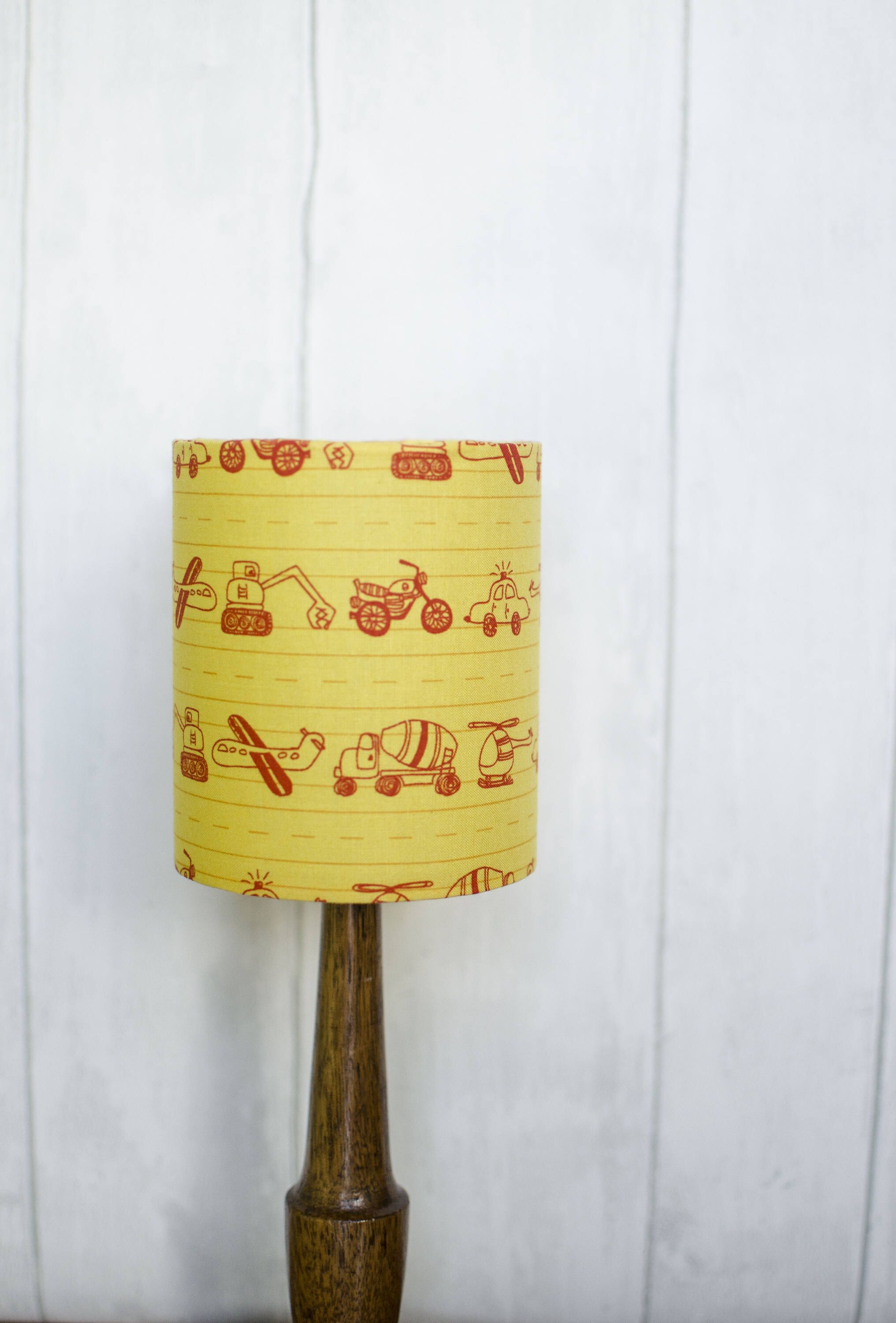 Truck Lampshade Yellow Lamp Shade Nursery Decor Kids Room Vehicle