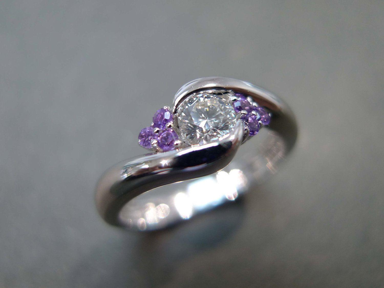 Amethyst Wedding Rings