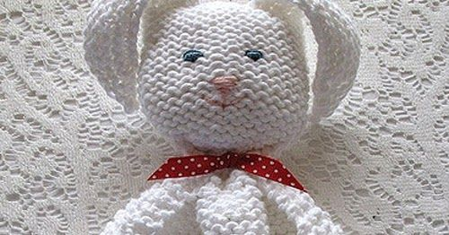 Bunny Blanket Buddy This Knit Pattern Tutorial Is Available For
