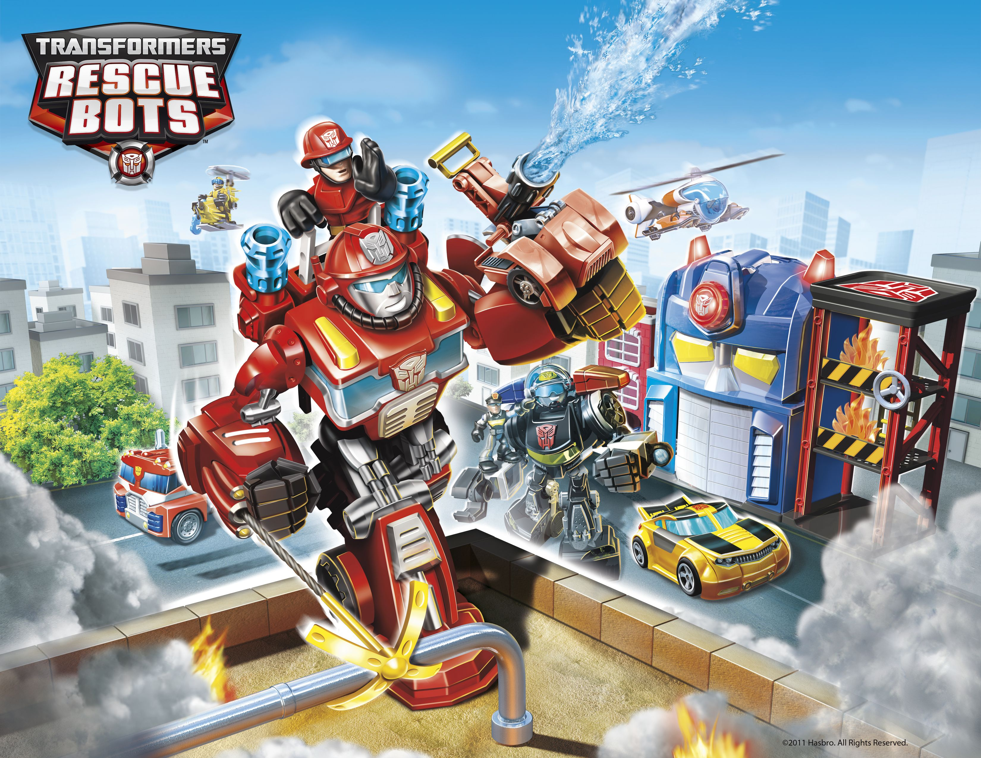 Printable Transformers Rescue Bots Coloring Pages