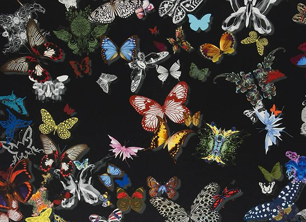 butterfly parade fabric from the christian lacroix. Black Bedroom Furniture Sets. Home Design Ideas