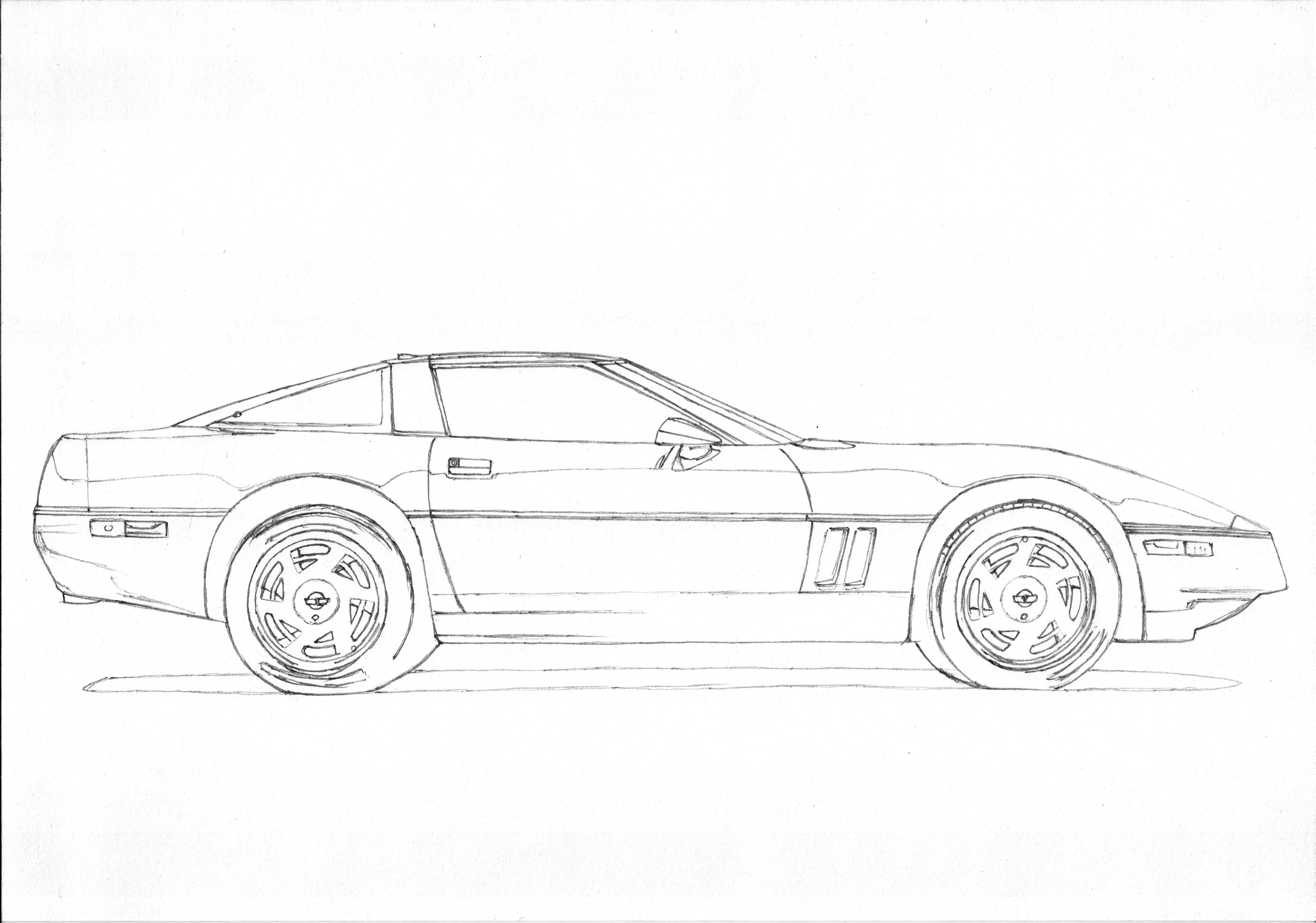 Chevrolet Corvette C4 1 3 American Sportscar In The Most
