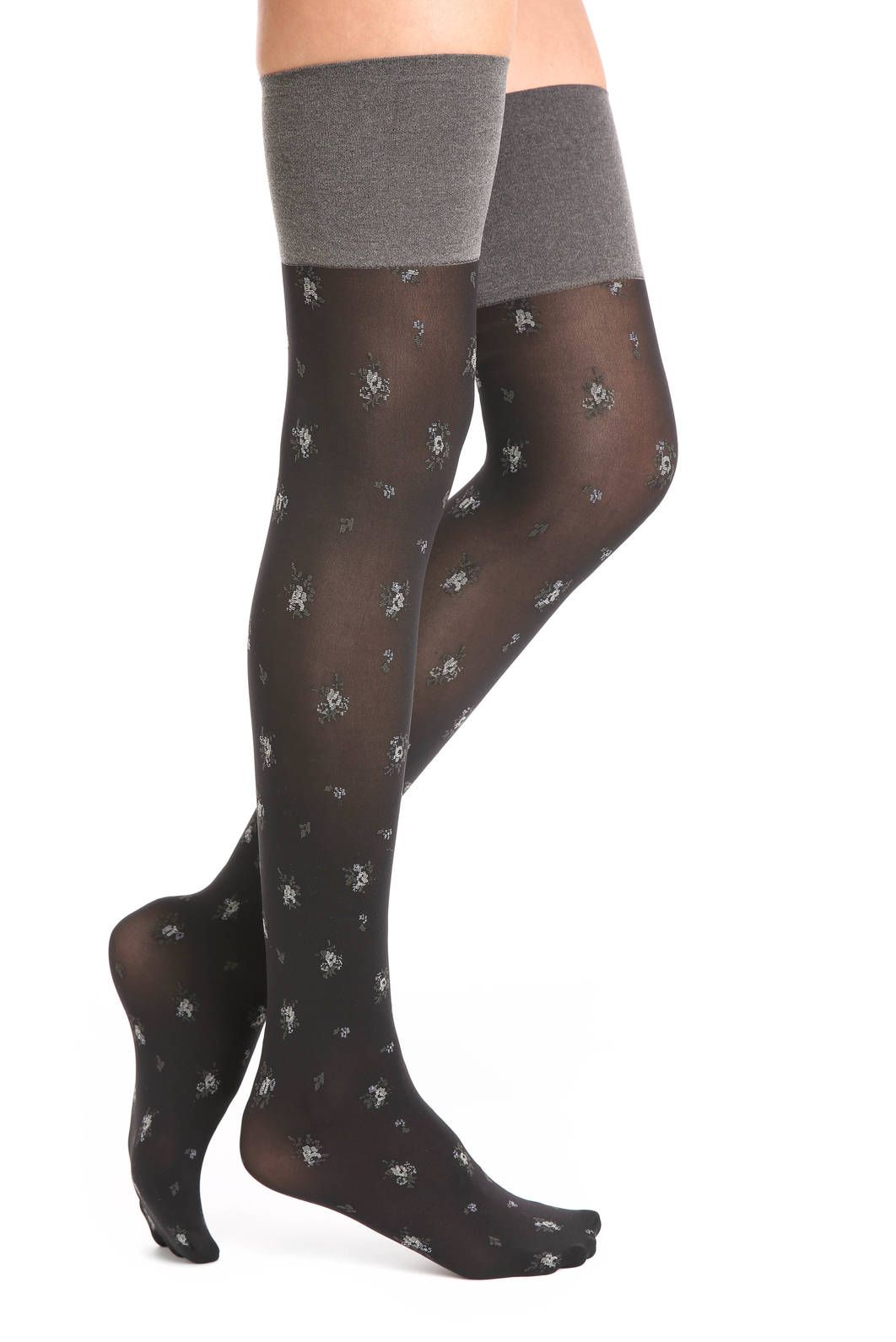 HUE Floral Over-the-Knee Boot Liner Socks | South Moon Under