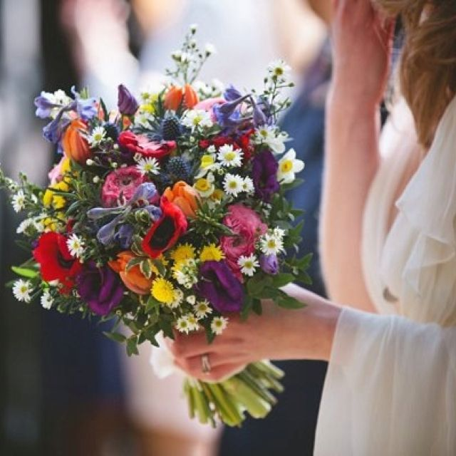 I Love All The Beautiful Colours And Including Everyday Flowers With Specimen Find This Pin More On Wedding