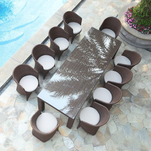 Palm 11 Piece Dining Set with Cushions