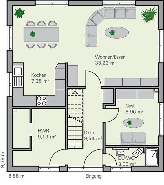 Grundriss stadtvilla 150 qm  Grundriss EG Imhoff | wohnung | Pinterest | Grundrisse, Häuschen ...