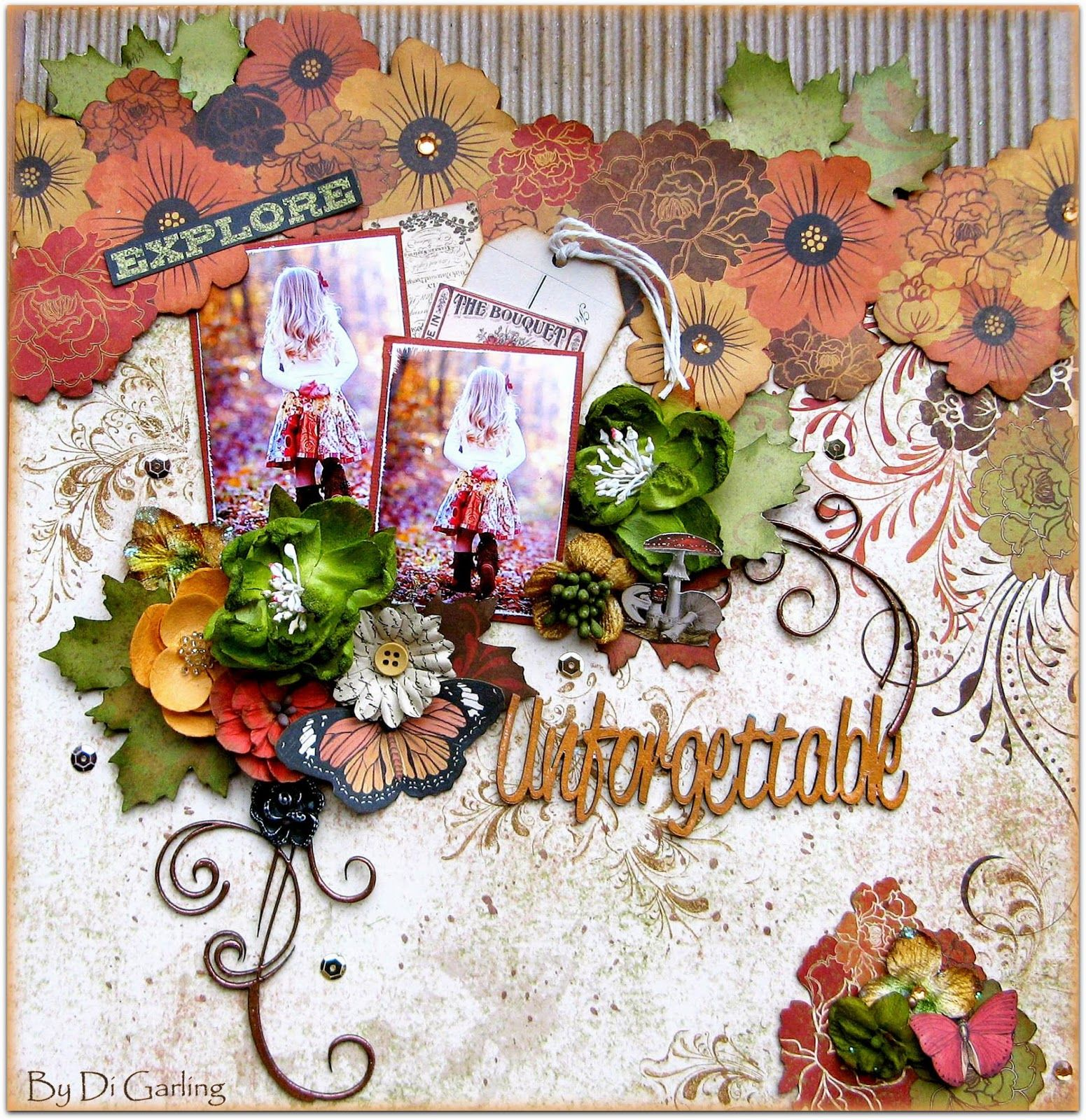 """Di's Creative Space: My Scraps of Darkness Kit ClubDT Reveal - Part One""""Unforgettable"""" by Di Garling"""