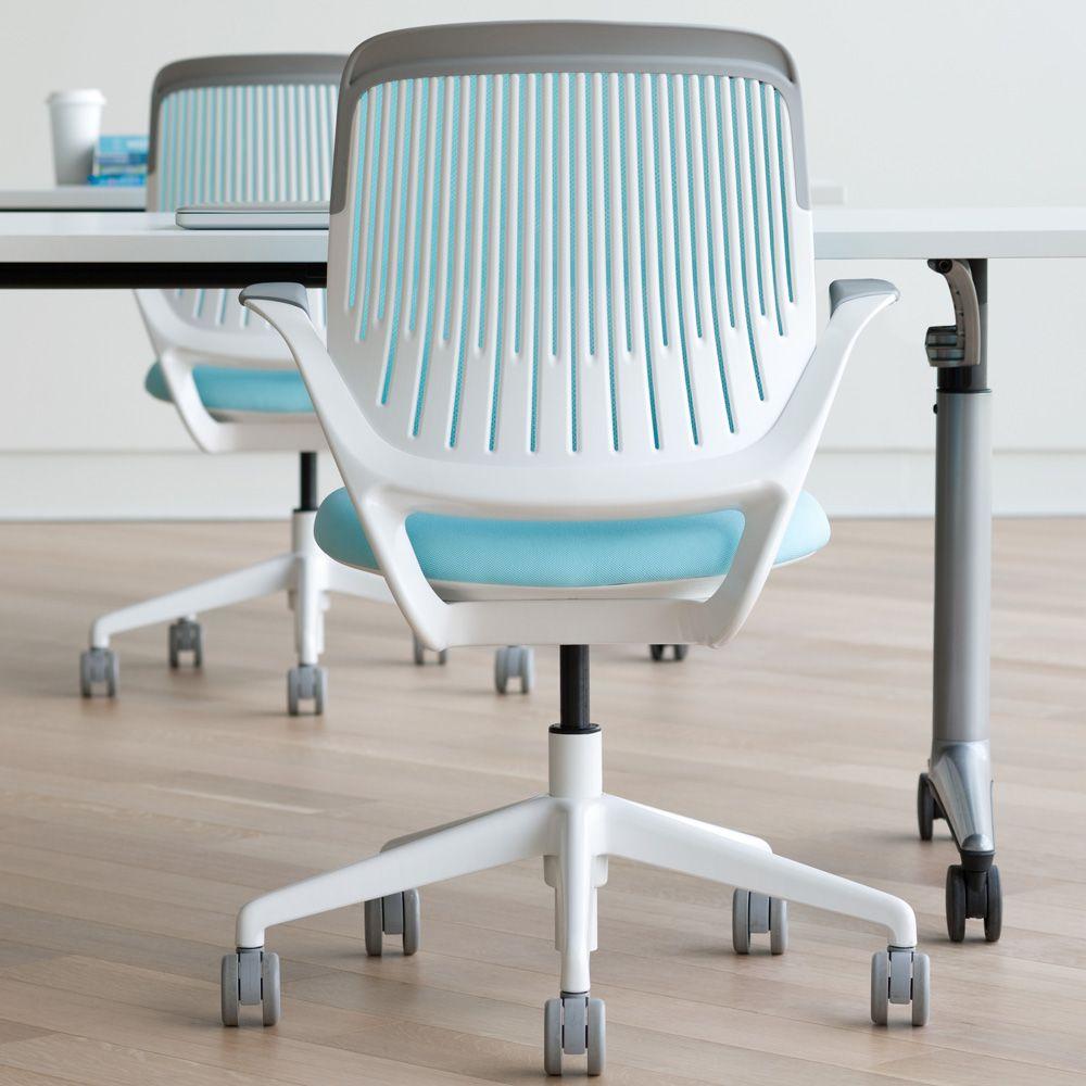 Gispen Zinn Bureaustoel.Aqua Cobi Desk Chair With White Frame Modern Office Furniture
