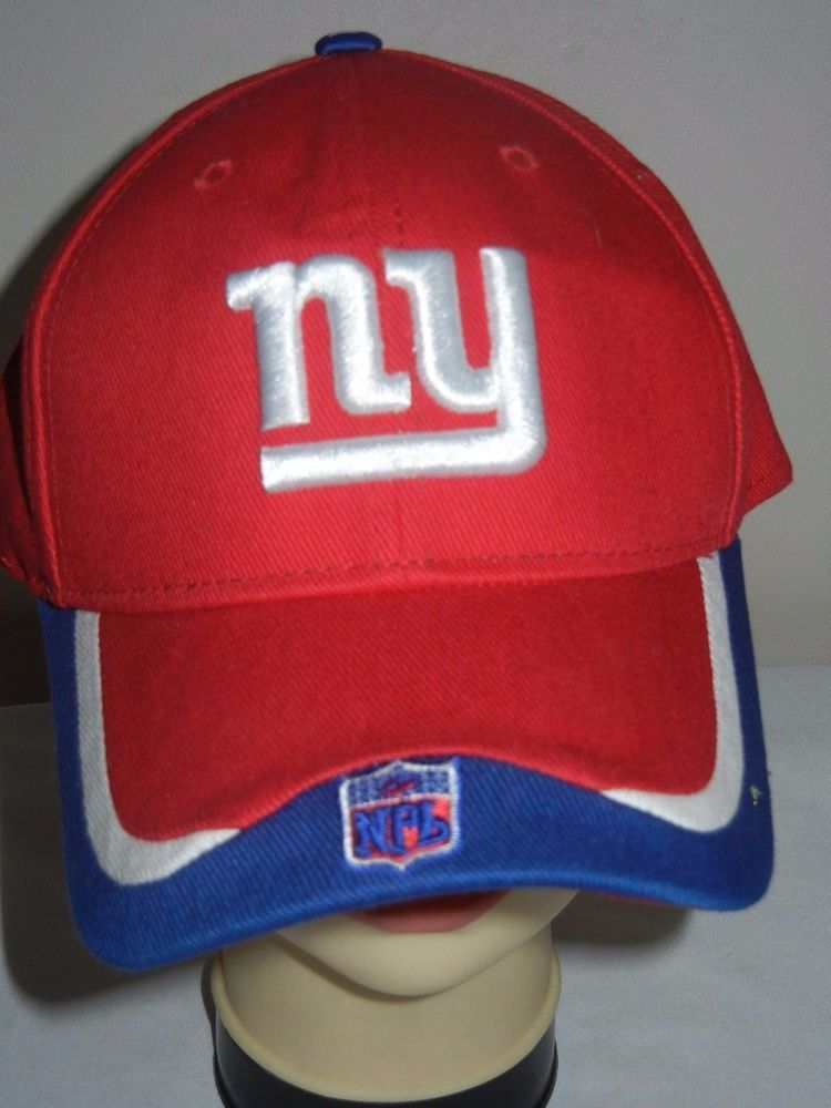 0381799f708 New York Giants OSFA baseball hat cap red Reebok On Field NFL Hooters SGA   Reebok
