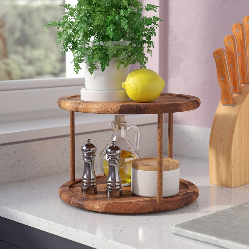 Love This Lazy Susan For Organizing Kitchen Utensil Crocks