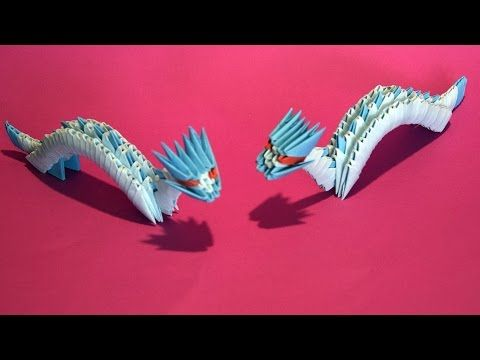 3d Origami Chinese Dragon Tutorial Gyarados Video With A Surprise